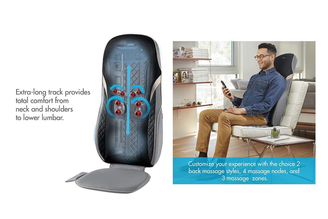 HoMedics, Quad Shiatsu Pro Massage Cushion with Heat