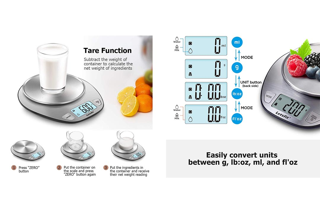 Letsfit Digital Kitchen Scale