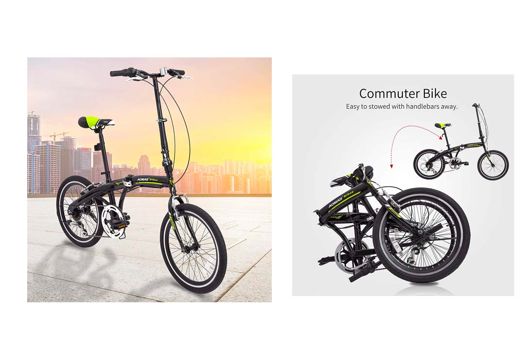 Murtisol Folding Bike 20'' Hybrid Bicycle