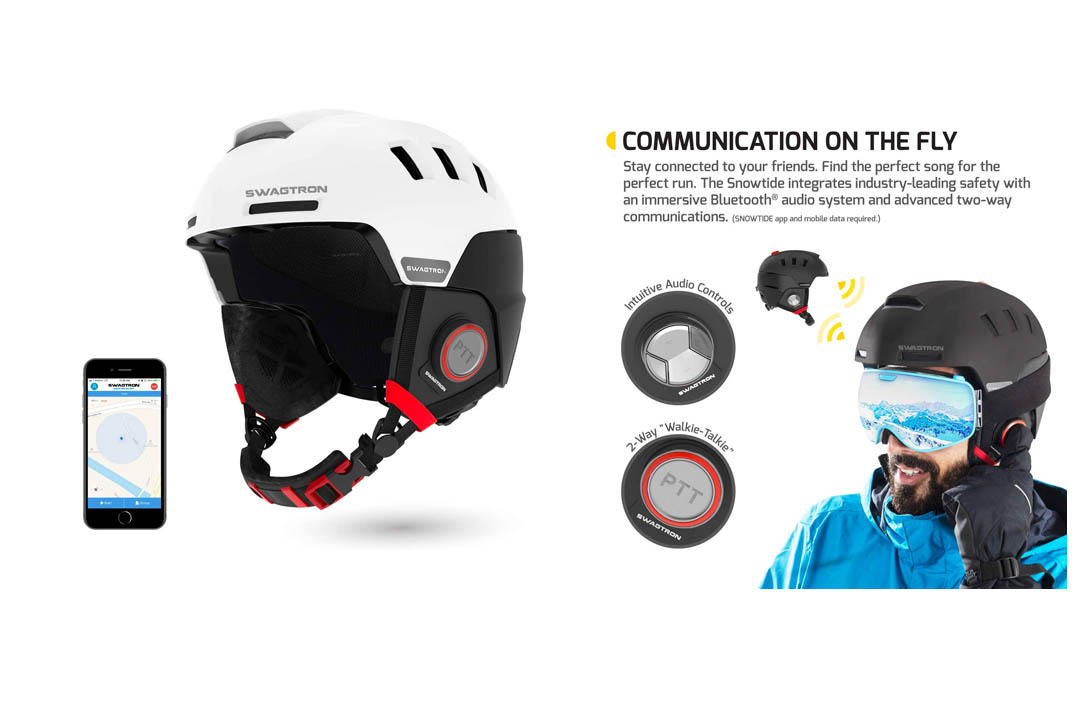 Swagtron Snowtide Bluetooth Ski and Snowboard Helmet Audio