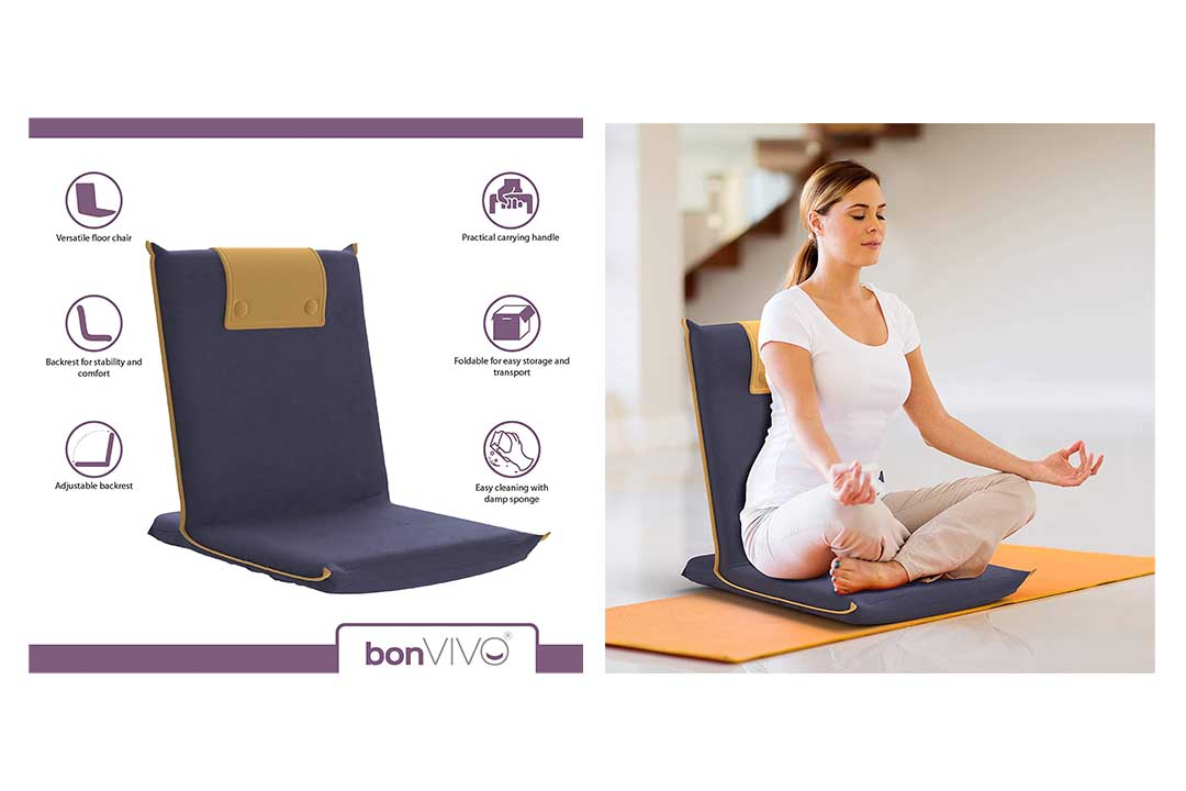 bonVIVO Easy III Padded Floor Chair with Integrated Handle
