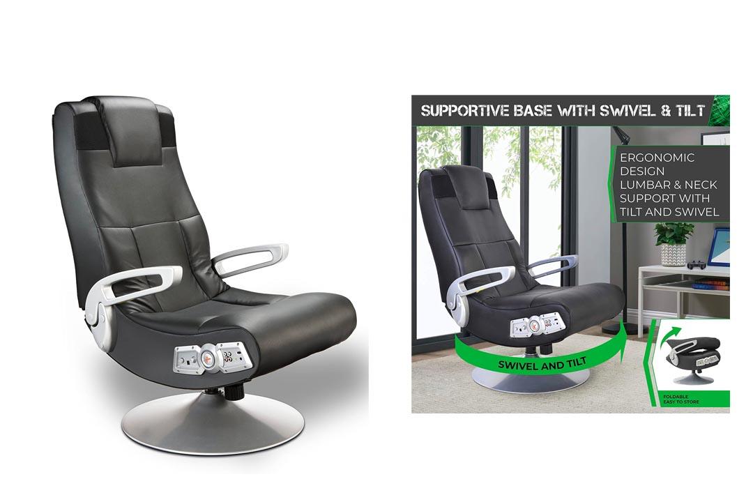 Ace Bayou X Rocker 5127401 Pedestal Video Gaming Chair
