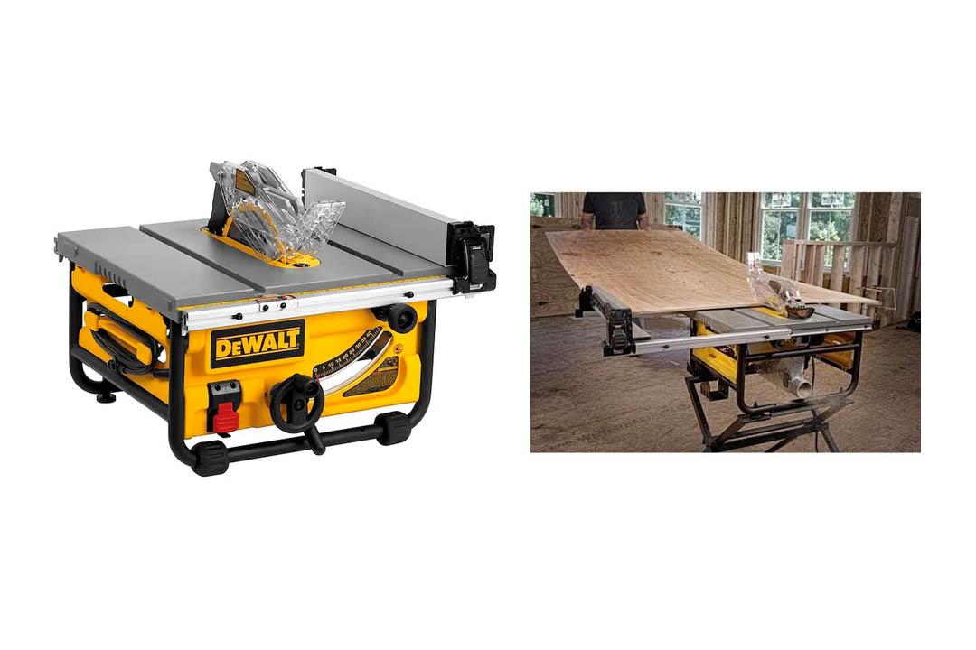 DEWALT DWE7480 10 Inch Compact Job Site Table Saw