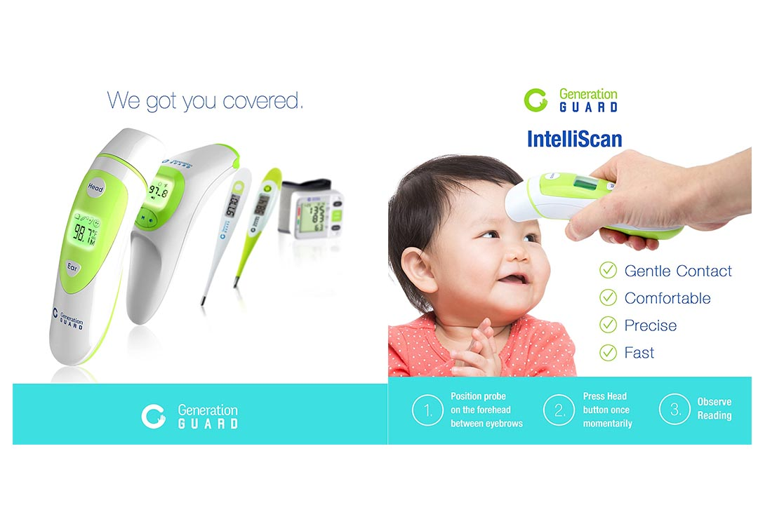 Generation Guard Clinical Forehead and Ear Thermometer