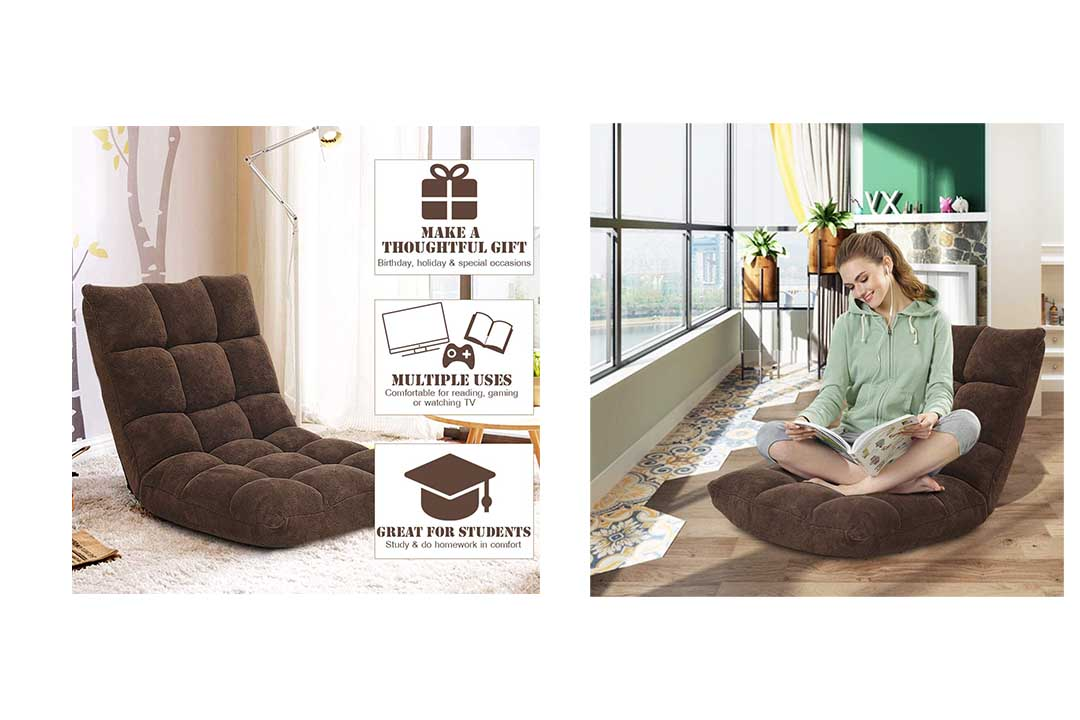 Giantex 14-Position Floor Folding Gaming Sofa Chair