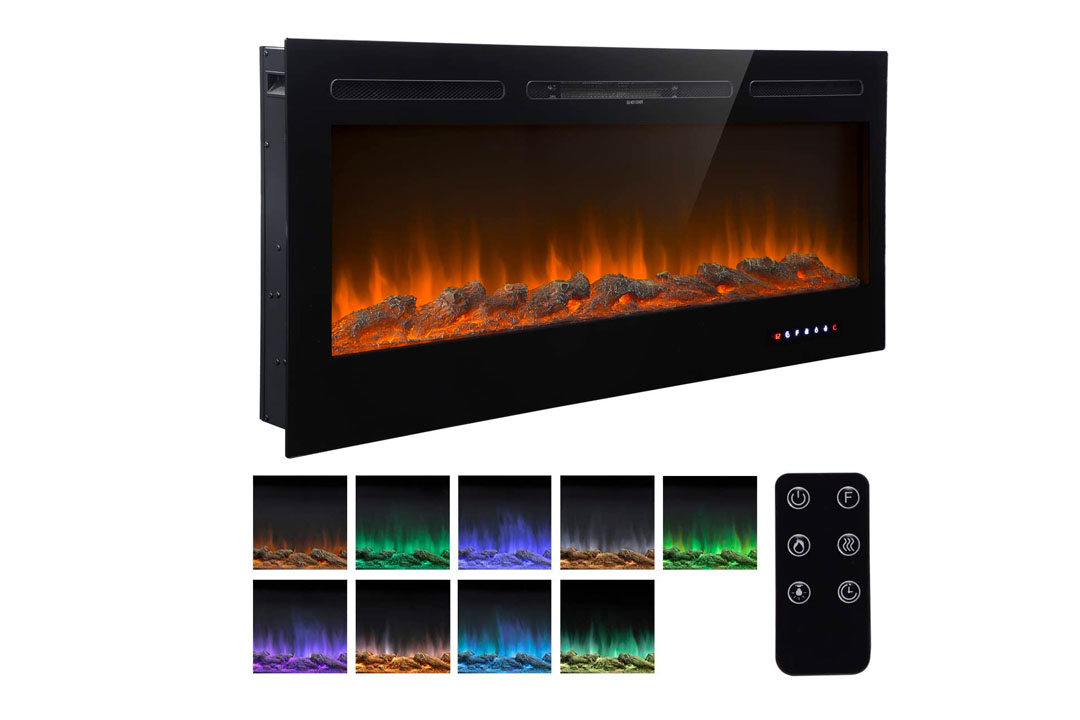 "Homedex 50"" Recessed Mounted Electric Fireplace"