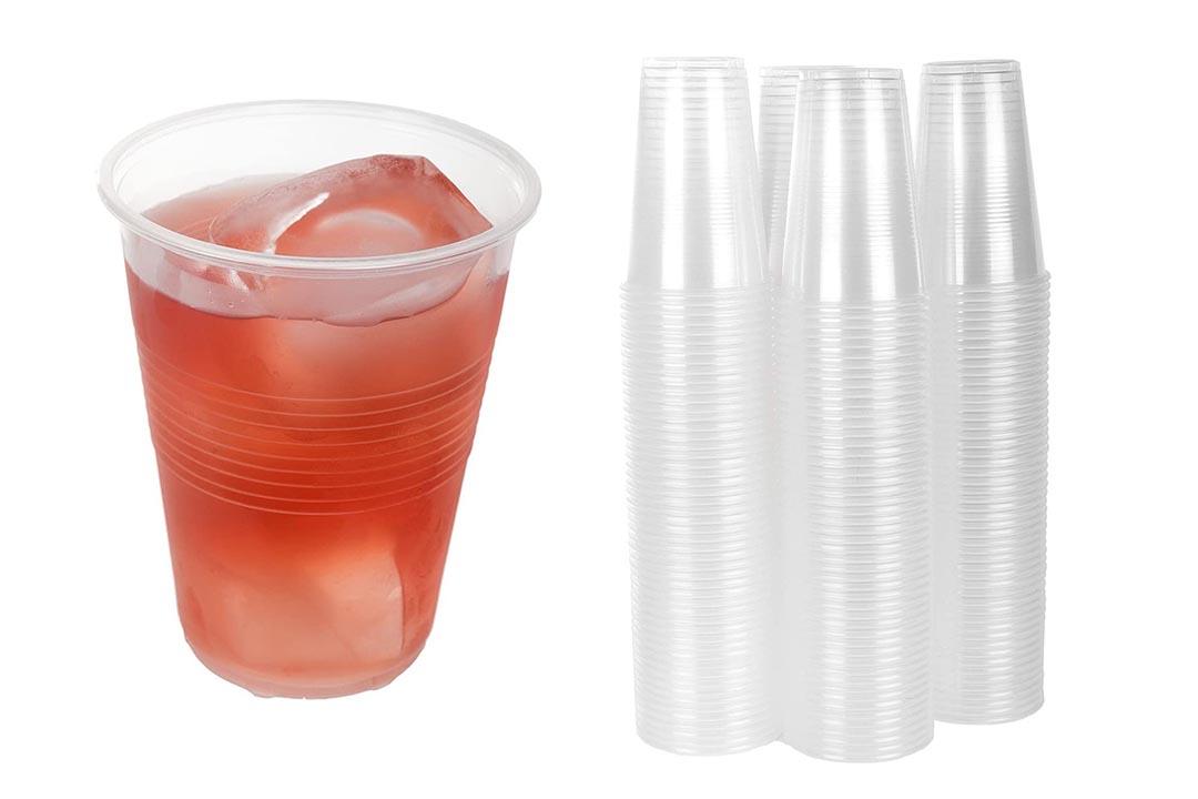 TashiBox 9 oz Clear Plastic Cups