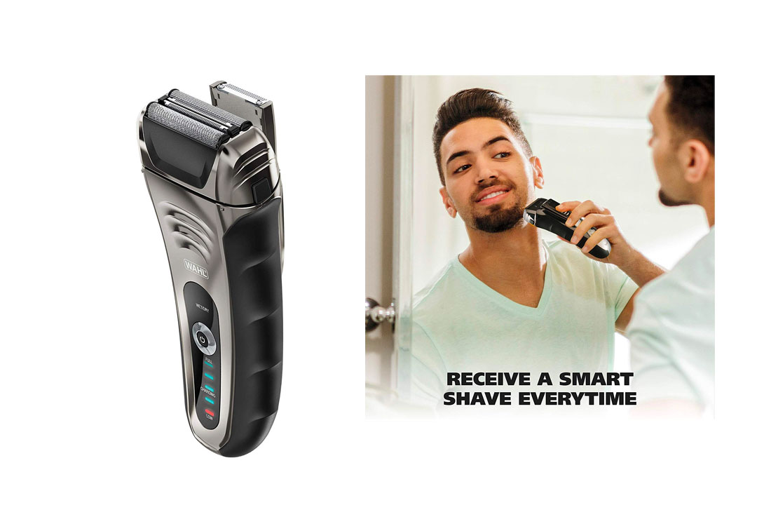 Wahl Speed Shave Rechargeable Lithium-Ion Wet/Dry Waterproof Facial Hair Shaver