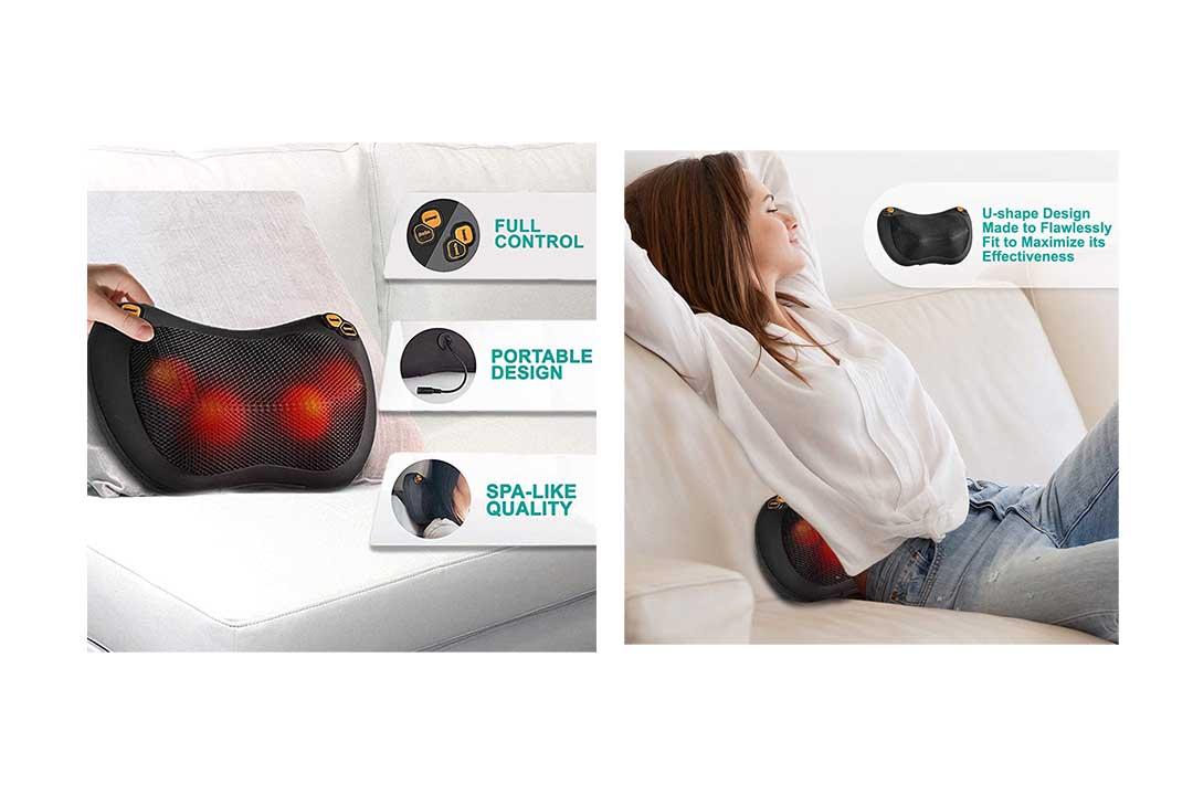 Zuzuro Shiatsu Pillow Massager with Heat