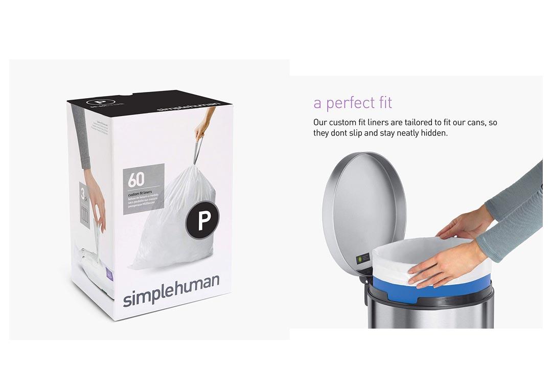 simplehuman Code P Custom Fit Drawstring Trash Bags
