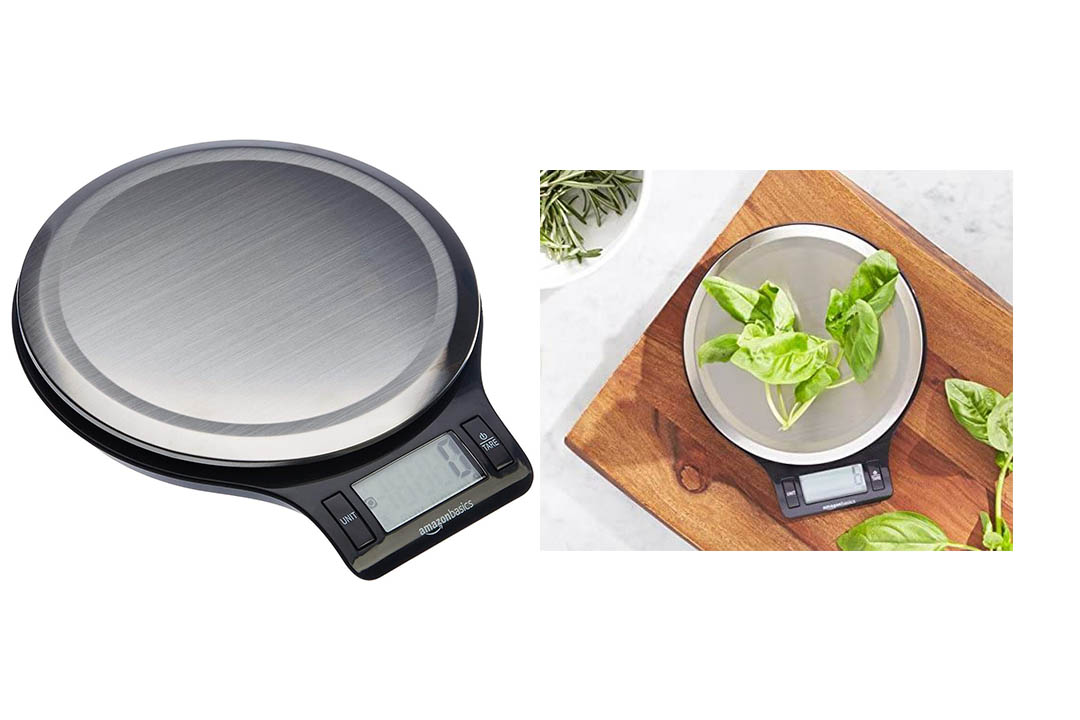 AmazonBasics Stainless Steel Digital Kitchen Scale