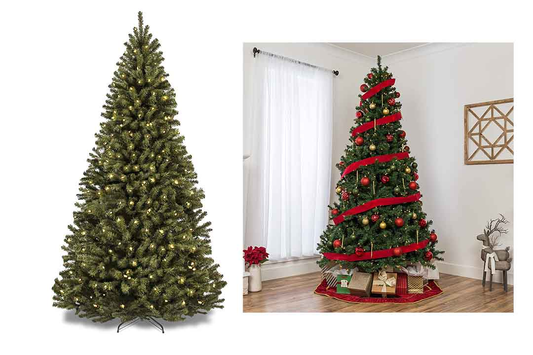 Best Choice Products Pre-Lite Spruce Hinged Artificial Christmas Tree