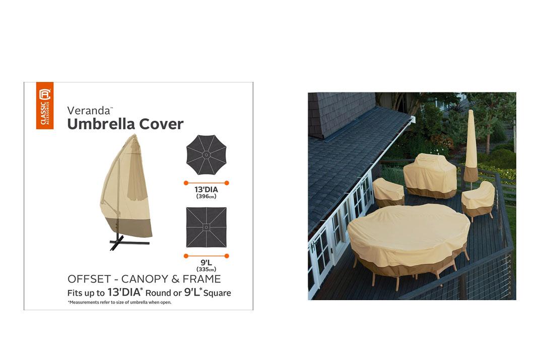 Classic Accessories Veranda Offset Patio Umbrella Cover