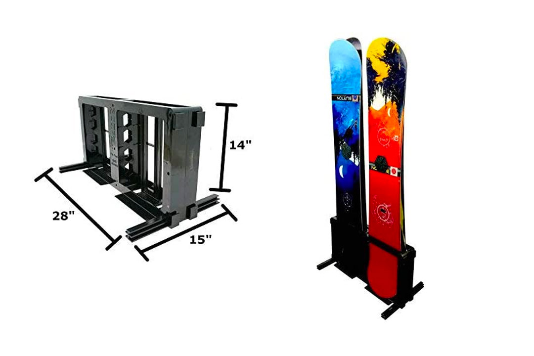 Freestand Snowboard Floor Rack