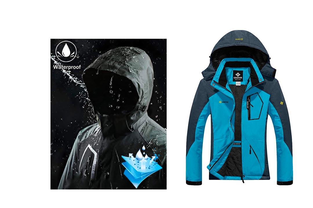 GEMYSE Women's Mountain Waterproof Ski Snow Jacket