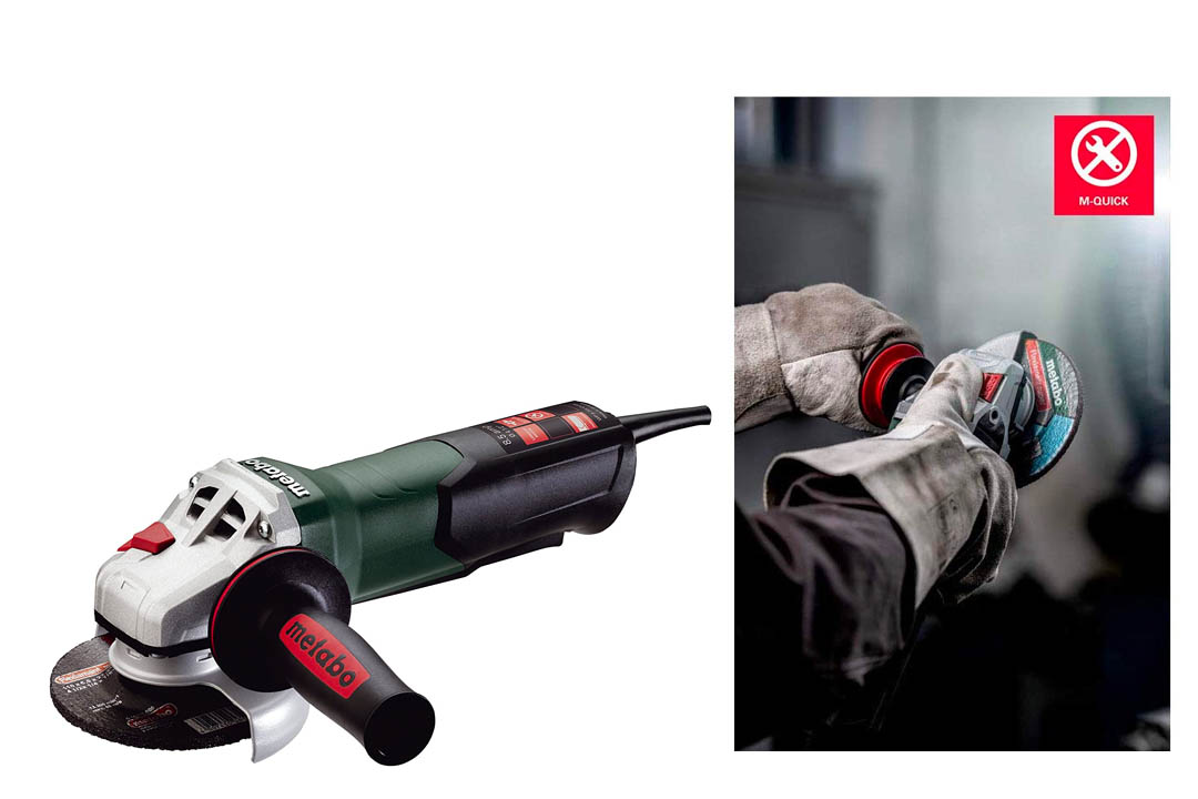 Metabo WP9-115 Quick 8.5 Amp 10.500 rpm Angle Grinder