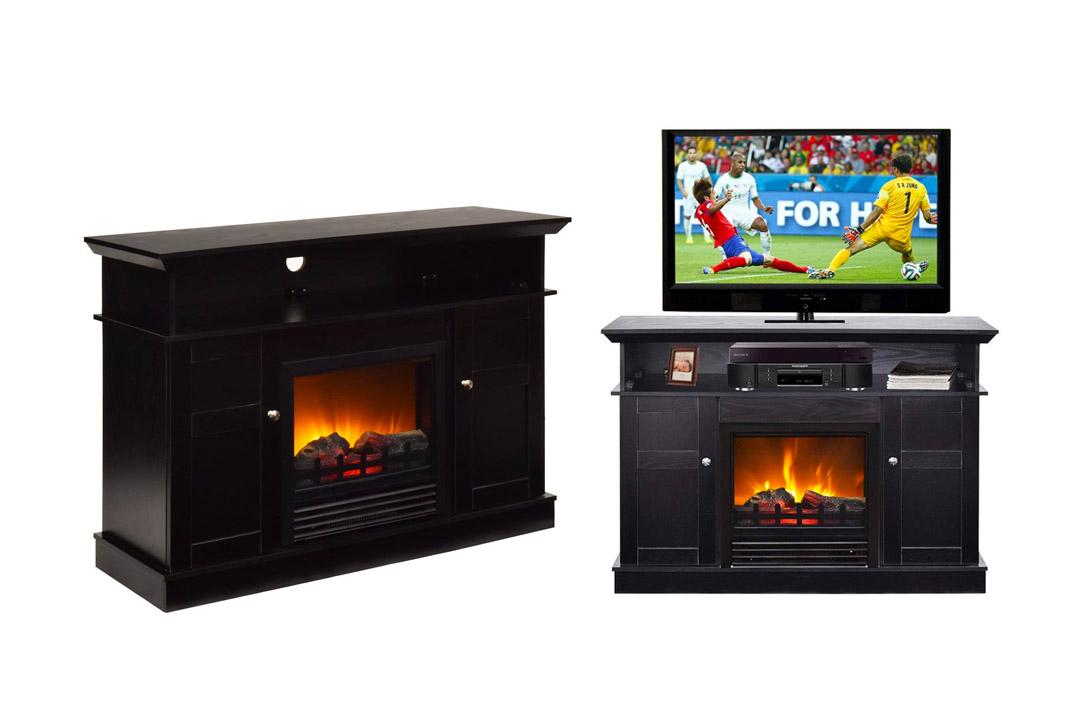 Tangkula Fireplace TV Stand