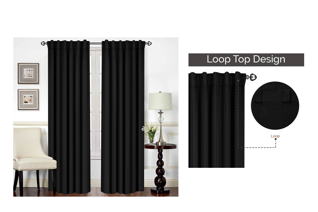 Utopia Bedding Blackout Room Darkening, and Thermal Insulating Window Curtains