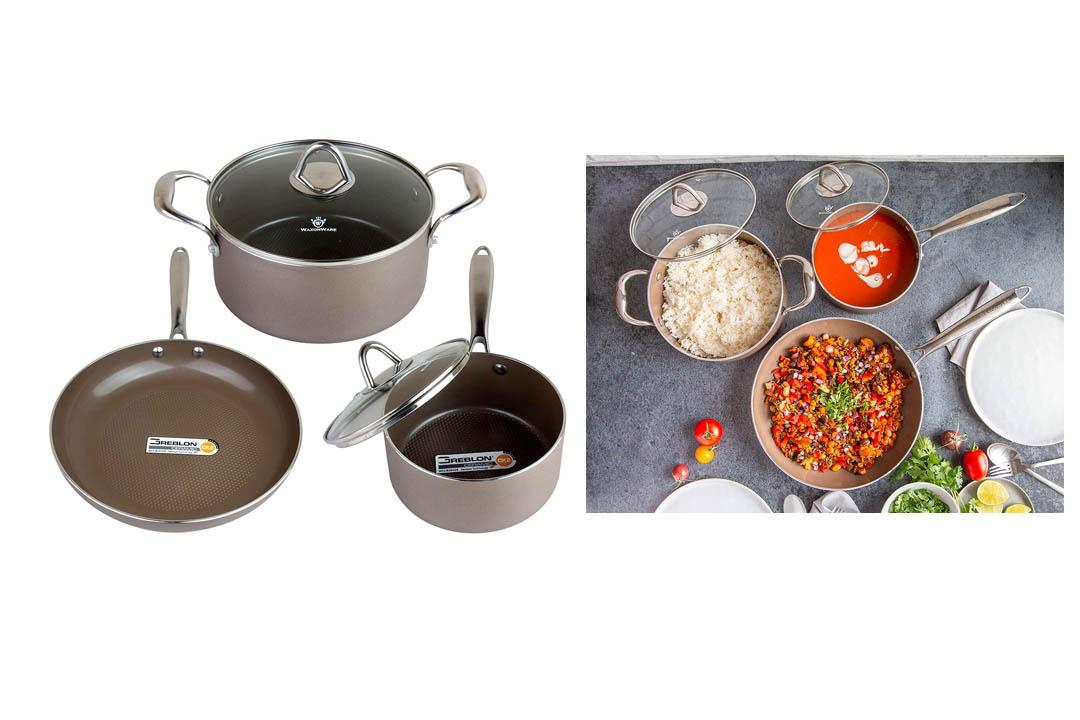 WaxonWare 5 Piece Nonstick Cookware Set