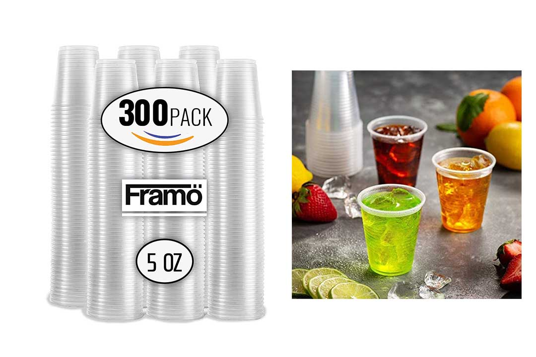 5 Oz Clear Plastic Cups by Framo