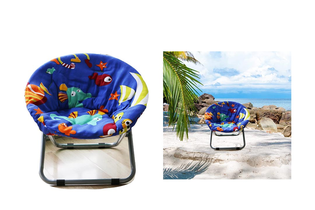 AteAte Comfortable Kids Folding Moon Chair