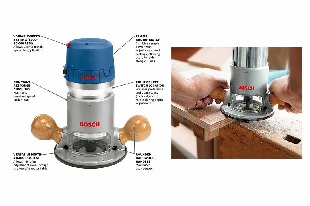 Bosch 1617EVV Wood Router Tool Kit