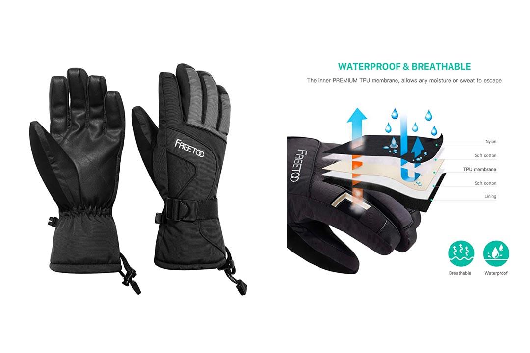 FREETOO Men's Ski Gloves