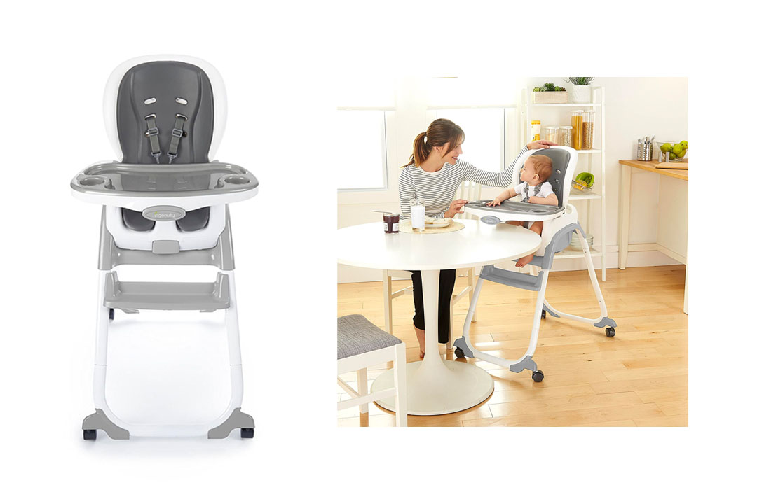 Ingenuity SmartClean Trio 3-In-1 High Toddler Chair