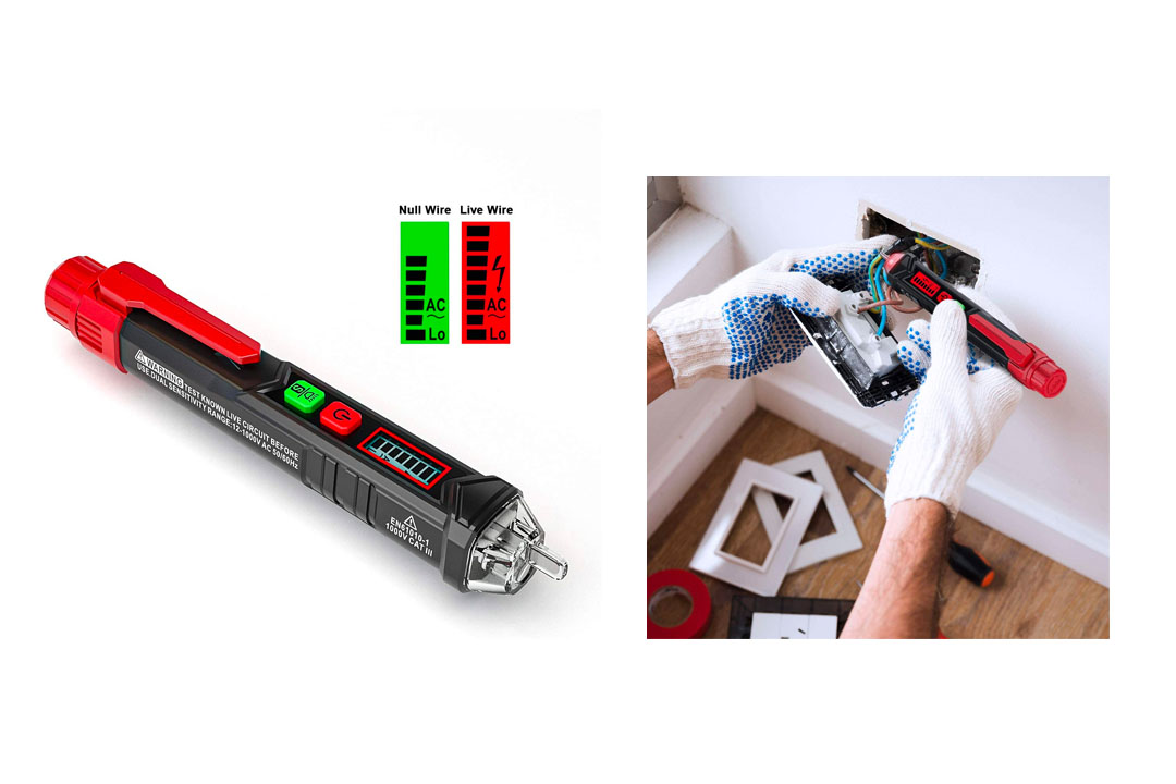 8. KAIWEETS Sensitive and Adjustable Non-contact Voltage Tester