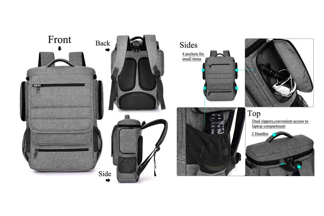 Laptop Backpack 17.3 Inch, BRINCH Water Resistant Travel Backpack