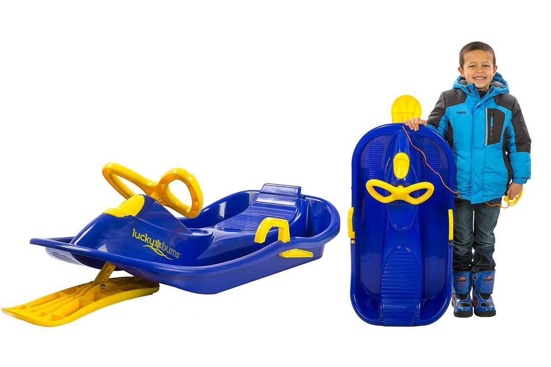 Lucky hobo plastic sled