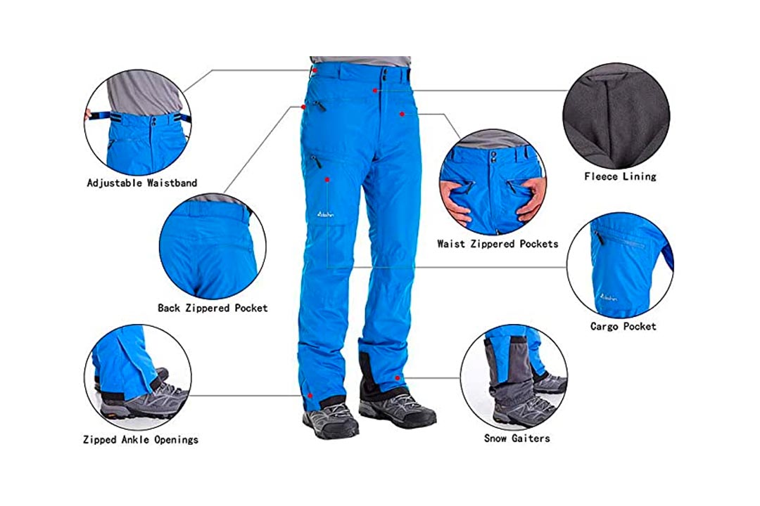Men's Fleece-Lined Snow Pants
