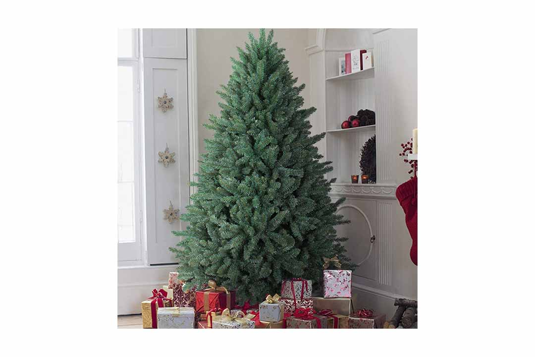 Oasis Craft 7 Ft premium Hinge Blue artificial Christmas tree