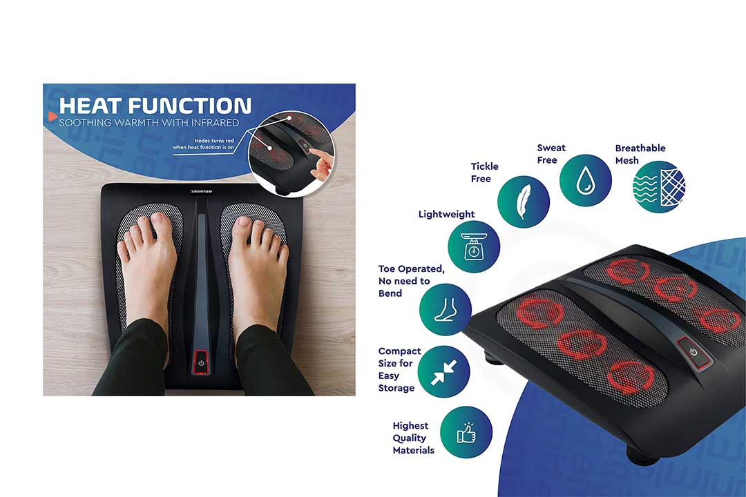 Shiatsu Foot Massager for Plantar Fasciitis