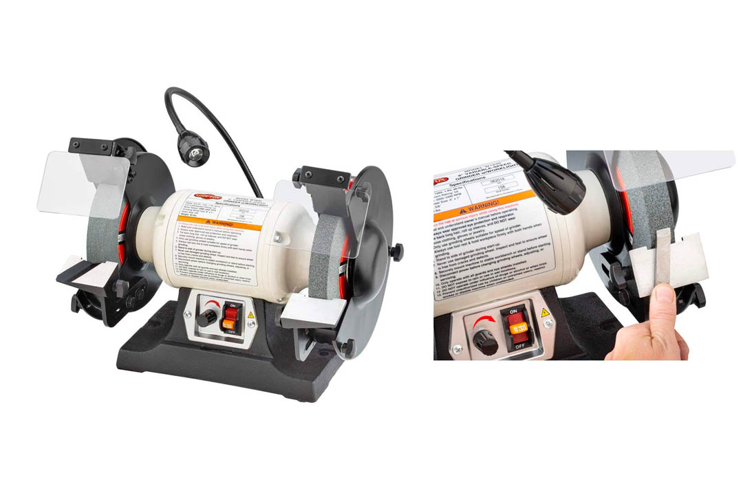 Shop Fox W1840 Variable Speed Grinder with Light