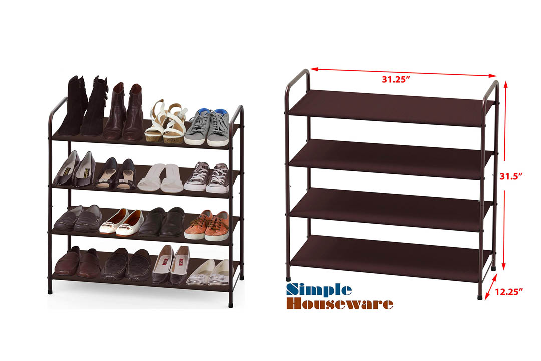 Simple Houseware 4-Tier Shoe Rack Storage Organizer