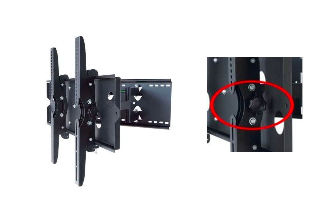 2xhome - Articulating Full Motion Swivel Tv Mount
