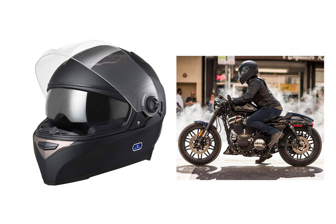 AHR DOT Motorcycle Full Face Helmet