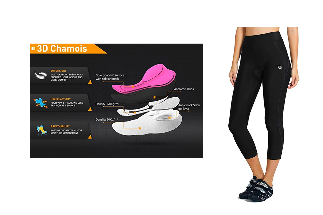 Baleaf Women's 3D Padded Compression Cycling Tights