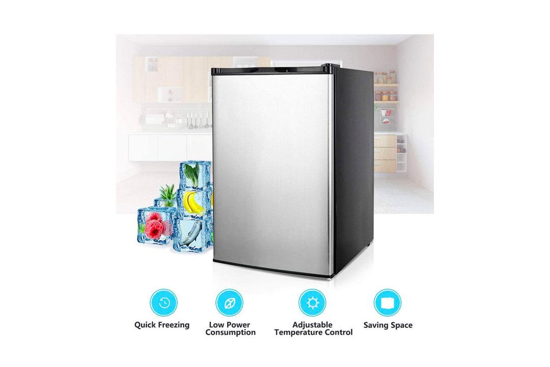 COSTWAY Compact Single Door Upright Freezer
