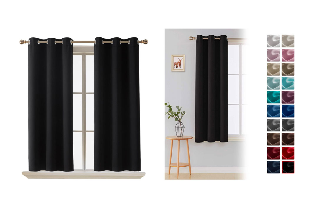 Deconovo Room Darkening Thermal Insulated Blackout Grommet Window Curtain