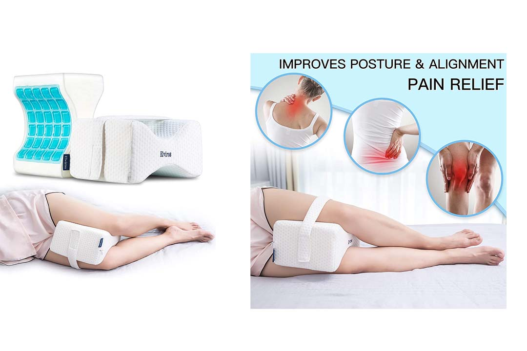 Elviros Knee Pillow for Side Sleepers