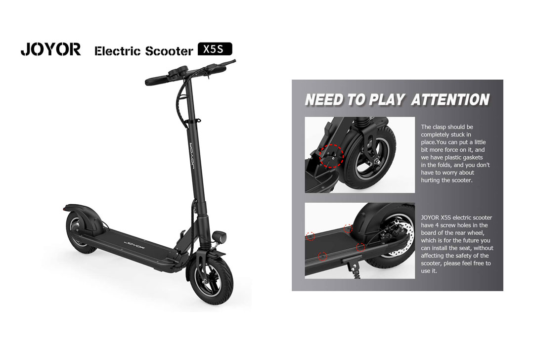"JOYOR X5S Electric Scooter - 500W Motor 10"" Aire Tires"