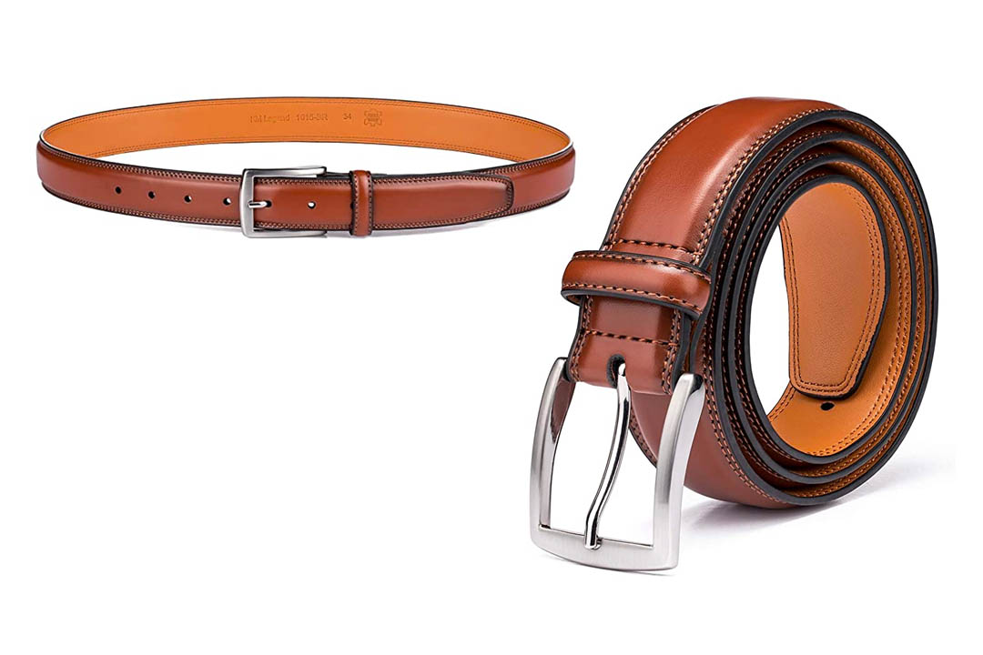 KM Legend Men's Genuine Leather Dress Belts