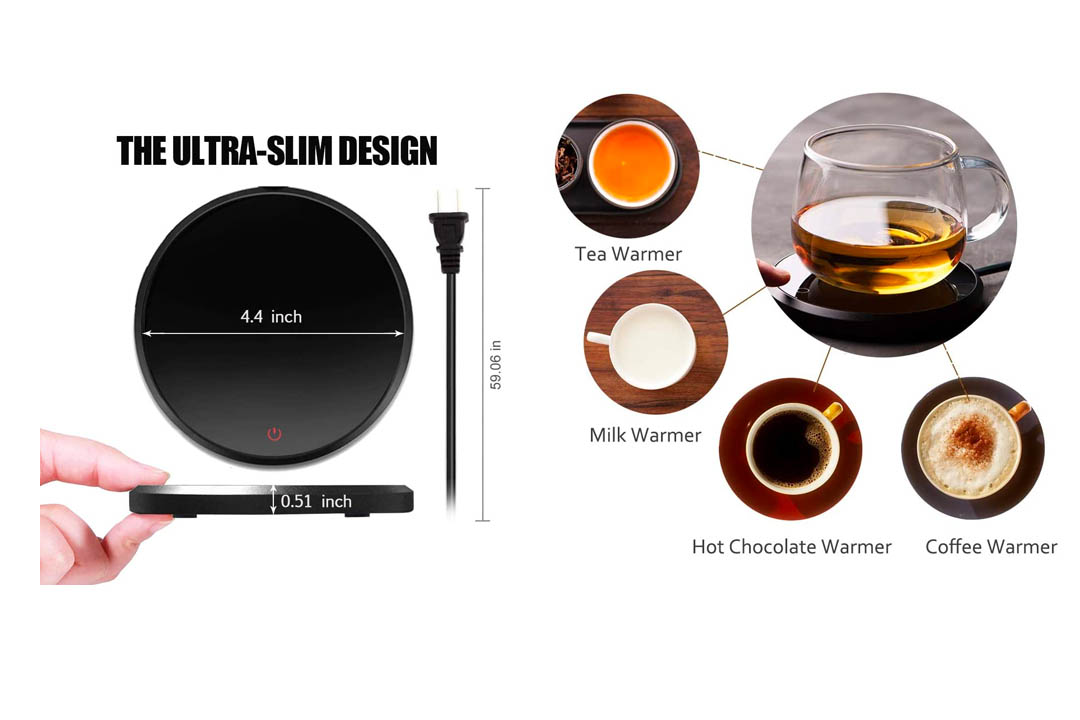 KRGMNHR 18Watt Coffee Mug Warmer & Cup Warmer