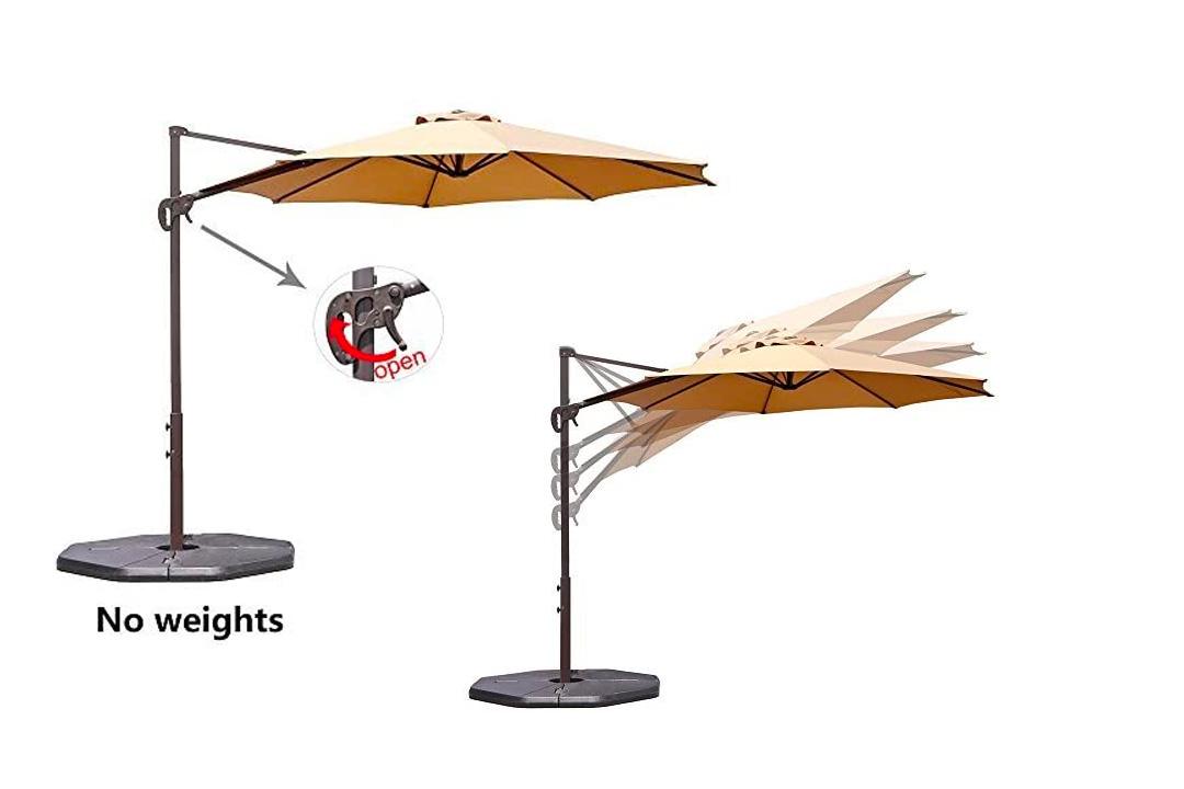 Le Papillon 10 Ft Cantilever Outdoor Offset Patio Umbrella