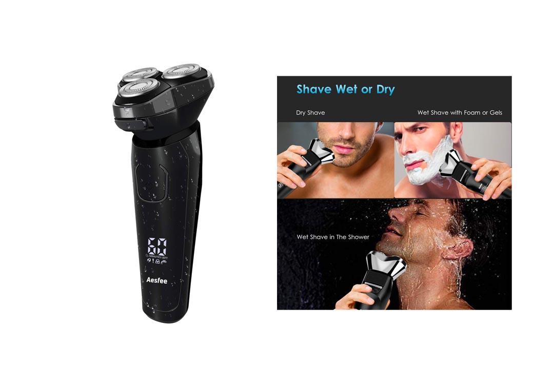 Men's Electric Razor Waterproof Wet and Dry by Aesfee
