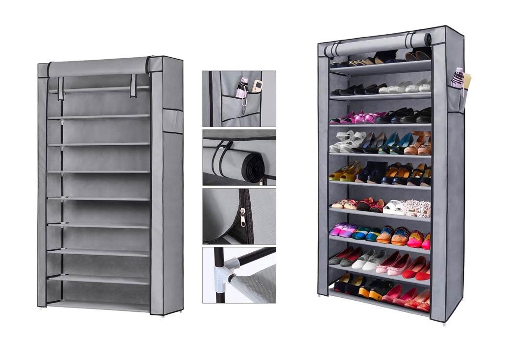 NEX 10-Tier Shoe Rack Portable Shoe Organizer