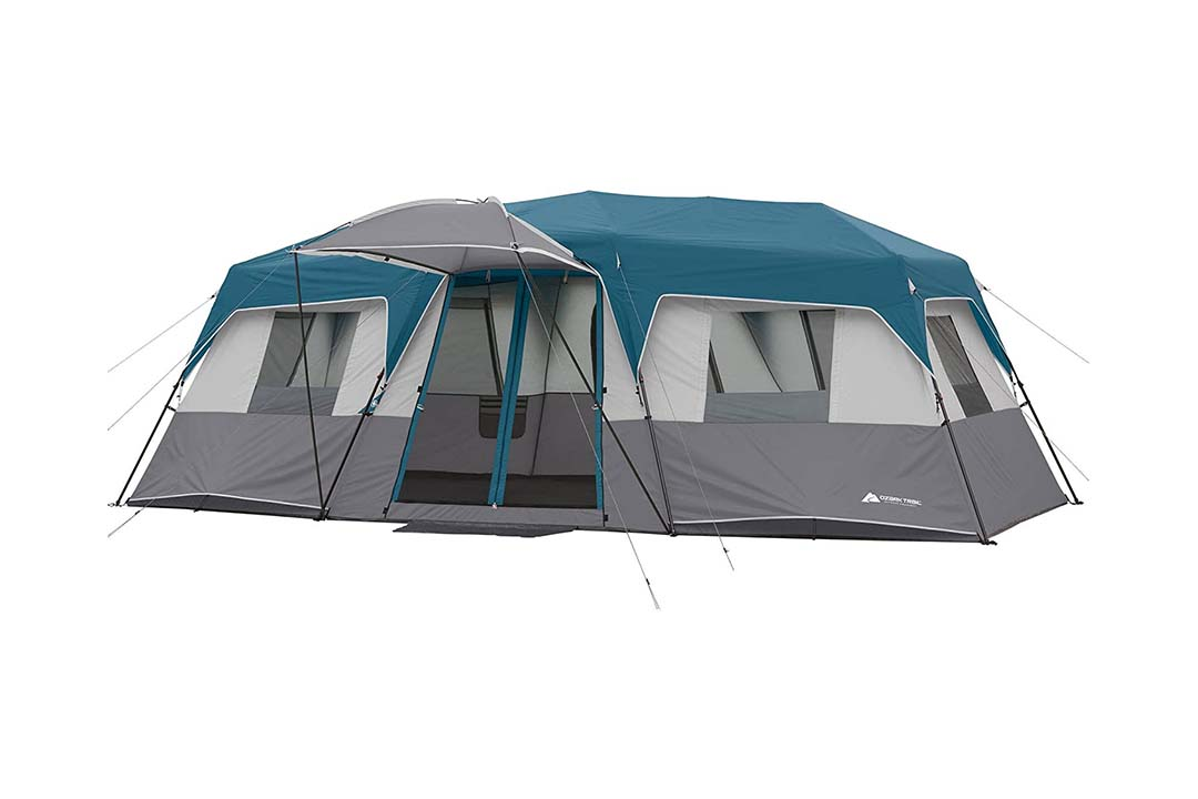Ozark Trail 15-Person 3 Room Split Plan Instant Cabin, Teal