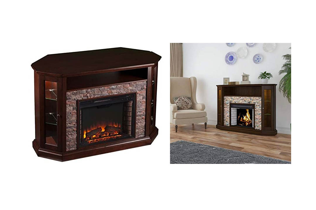 Pemberley Row Corner LED Fireplace TV Stand